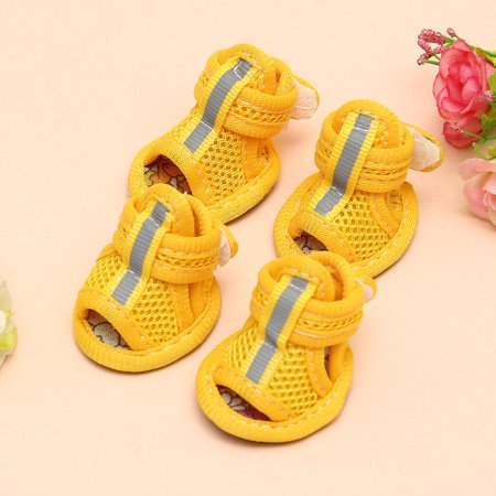 Casual Anti-Slip Small Dog Shoes Pet Shoes Summer Breathable Soft Mesh Sandals - image 3 of 6