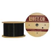 LOOS GC06377M1NB Cable,50 ft L,1/16 in,96 lb,Black Nylon G2414660