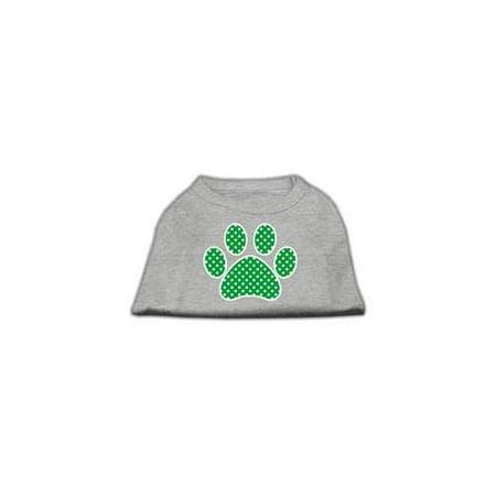 - Green Swiss Dot Paw Screen Print Shirt Grey XXL (18)