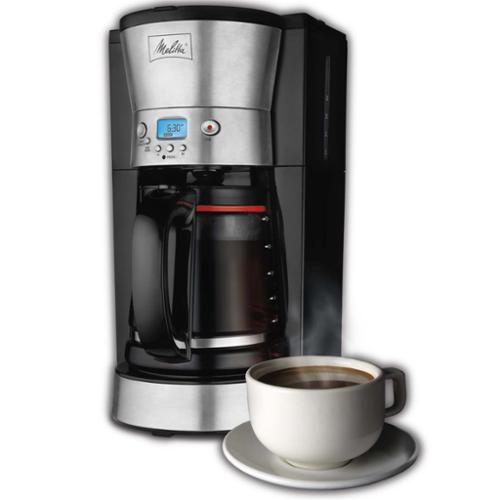 Melitta 46893A LCD 12-Cup Digital Programmable Auto Glass Carafe Coffeemaker