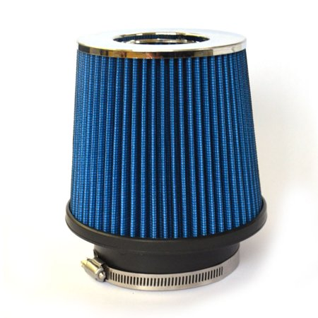 "Zimtown 3"" Inlet Short Ram Cold Air Intake Round Cone Air Filter Blue"