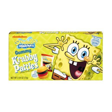 Nickelodeaon Bob l'éponge Squarepants Gummy Krabby Galettes Candy, 2,54 OZ