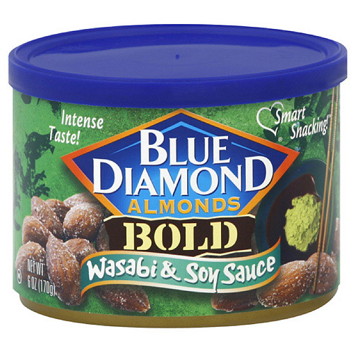 Blue Diamond Bold Wasabi & Soy Sauce Almonds, 6 oz, 12ct (Pack of 12) by Generic