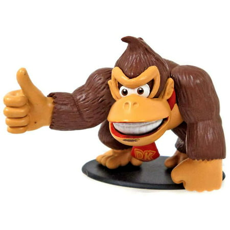 Super Mario Donkey Kong Mini Figure](Rubber Donkey Toy)