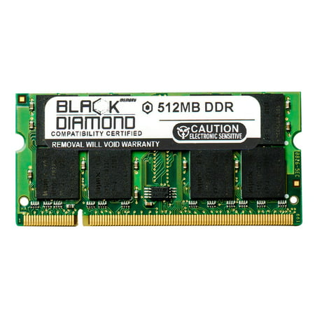 512MB RAM Memory for Panasonic Toughbook 29 Hanscom AFB Only, 29 San Antonio PD Only, 29 STS Only, 29H3 Black Diamond Memory Module DDR SO-DIMM 200pin PC2700 333MHz (Black Diamond Ascension Nylon Custom Sts Skins)