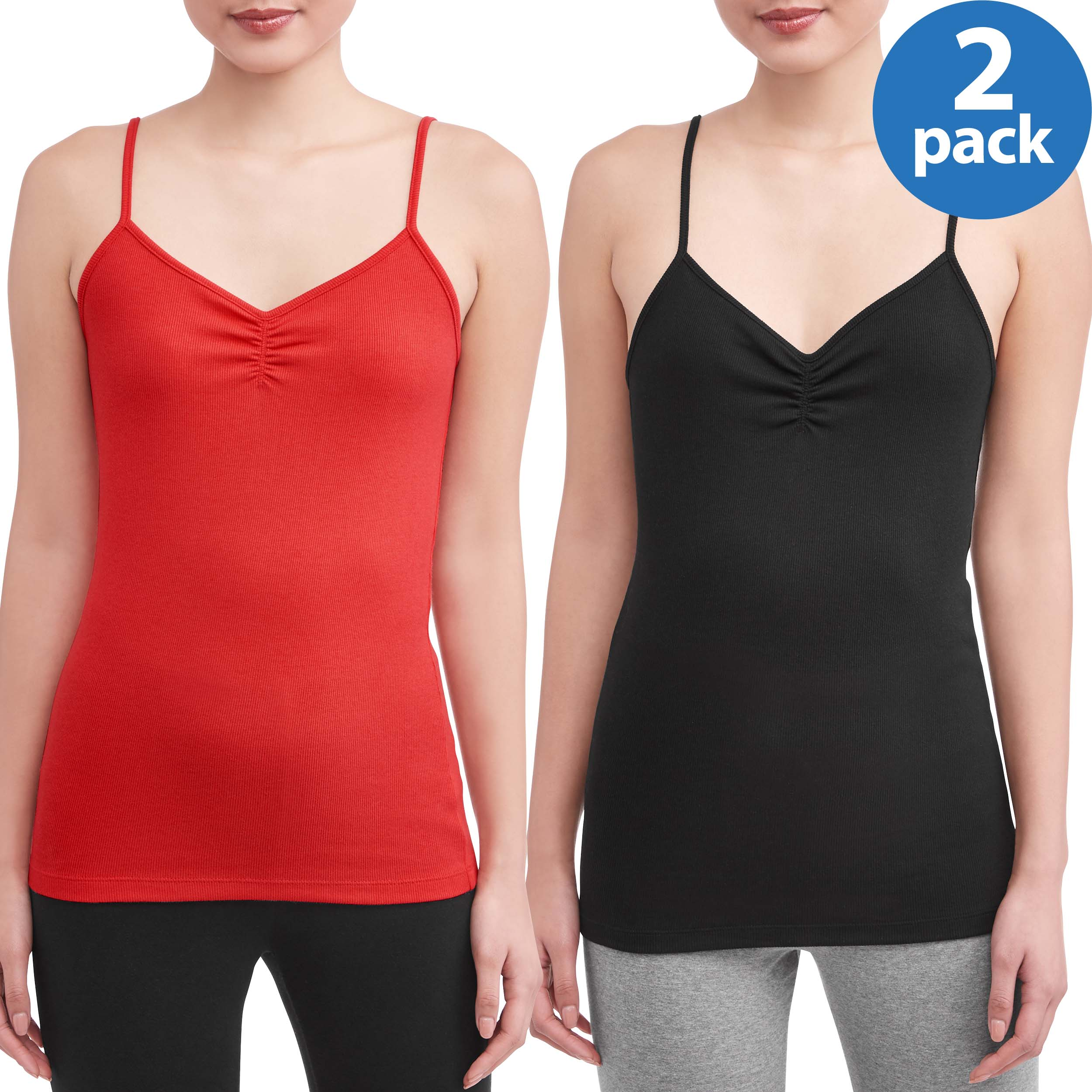 New No Boundaries Rib Cami Top Size M 7 9 Juniors Red Cinch Front Fitted Casual