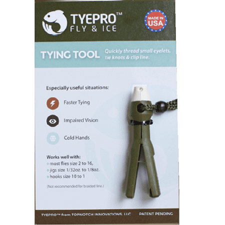 Tyepro fly ice fishing knot tying tool threads tiny for Tyepro fishing tool