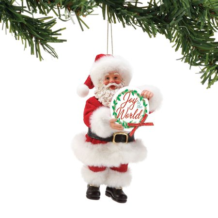 Possible Dreams Santa Joy to the World Christmas Ornament #6002154 ()