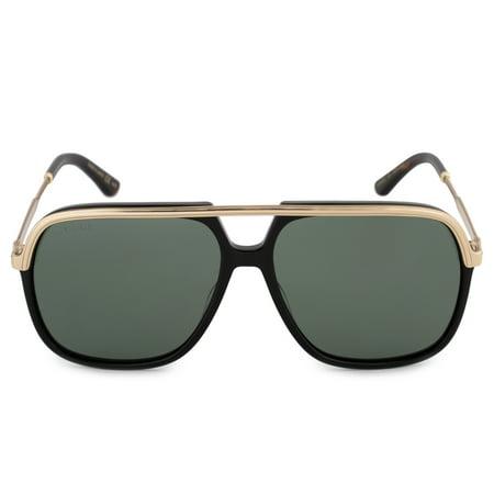 sunglasses gucci gg 0200 s- 001 black / green gold