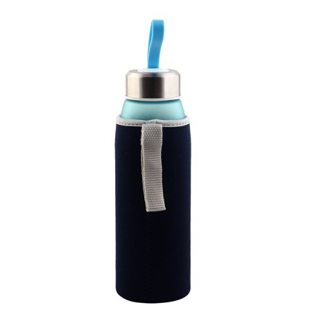 Spandex Heat Insulated Anti Scald Hands Protector Glass Mug Cup Sleeve Navy Blue - image 3 of 6