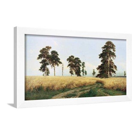 Rye Field, 1878 Framed Print Wall Art By Ivan Shishkin - Walmart.com