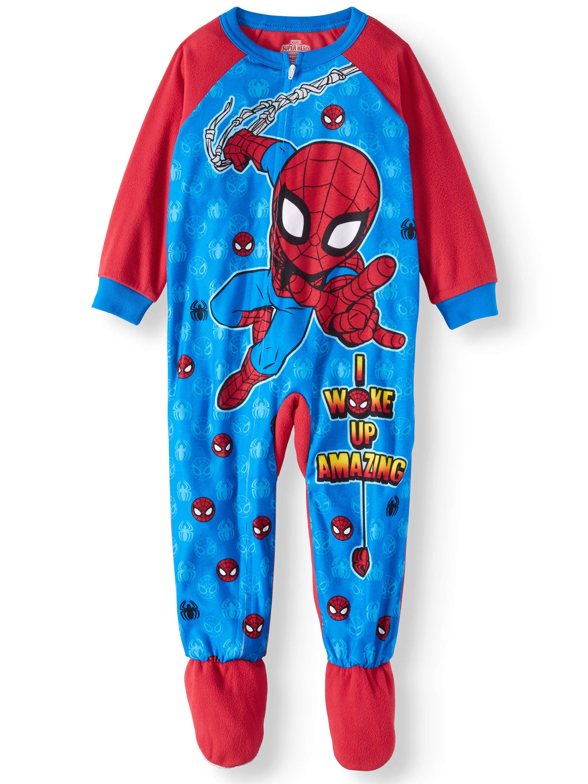 Spider-Man Toddler Boys' Microfleece Footed Blanket Sleeper