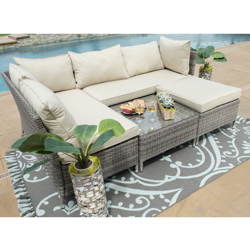 Borealis Codee 4 Piece Sectional Seating Group with Cushions
