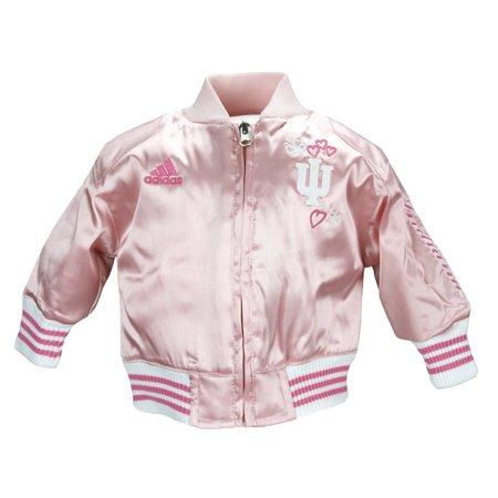 Adidas Infant Baby Girls Indiana Hoosiers Varsity Cheer Jacket - Pink - Varsity Jacket For Girl