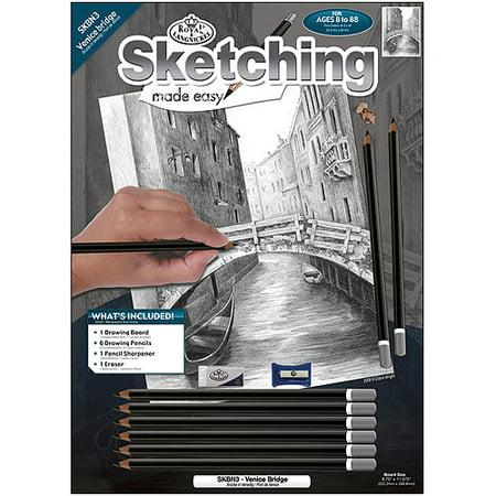 Royal Brush Sketching Made Easy Kit, 8.75