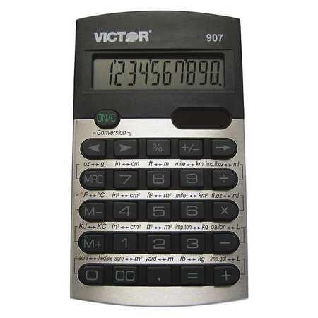 Metric Conversion Calculator,10 Digits VICTOR 907