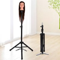 Adjustable Wig Mannequin Head Tripod Stand Holder Hairdressing Training Mannequin Tripod Clamp with Carry Bag