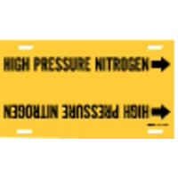 BRADY 4195-H Pipe Mrkr,High Pressure Nitrogen,10 to15