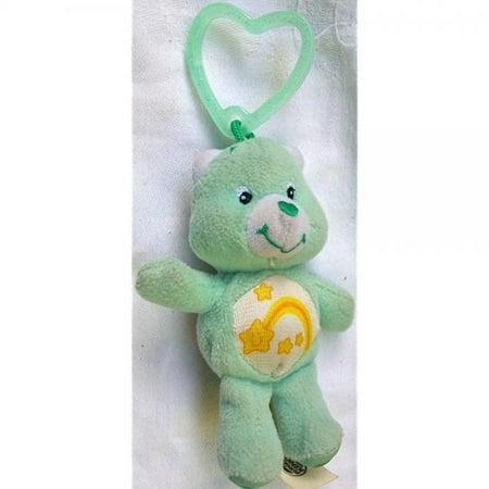4 Plush Care Bear, Wish Bear, Clip on Doll Toy (Care Bear Wish Bear)