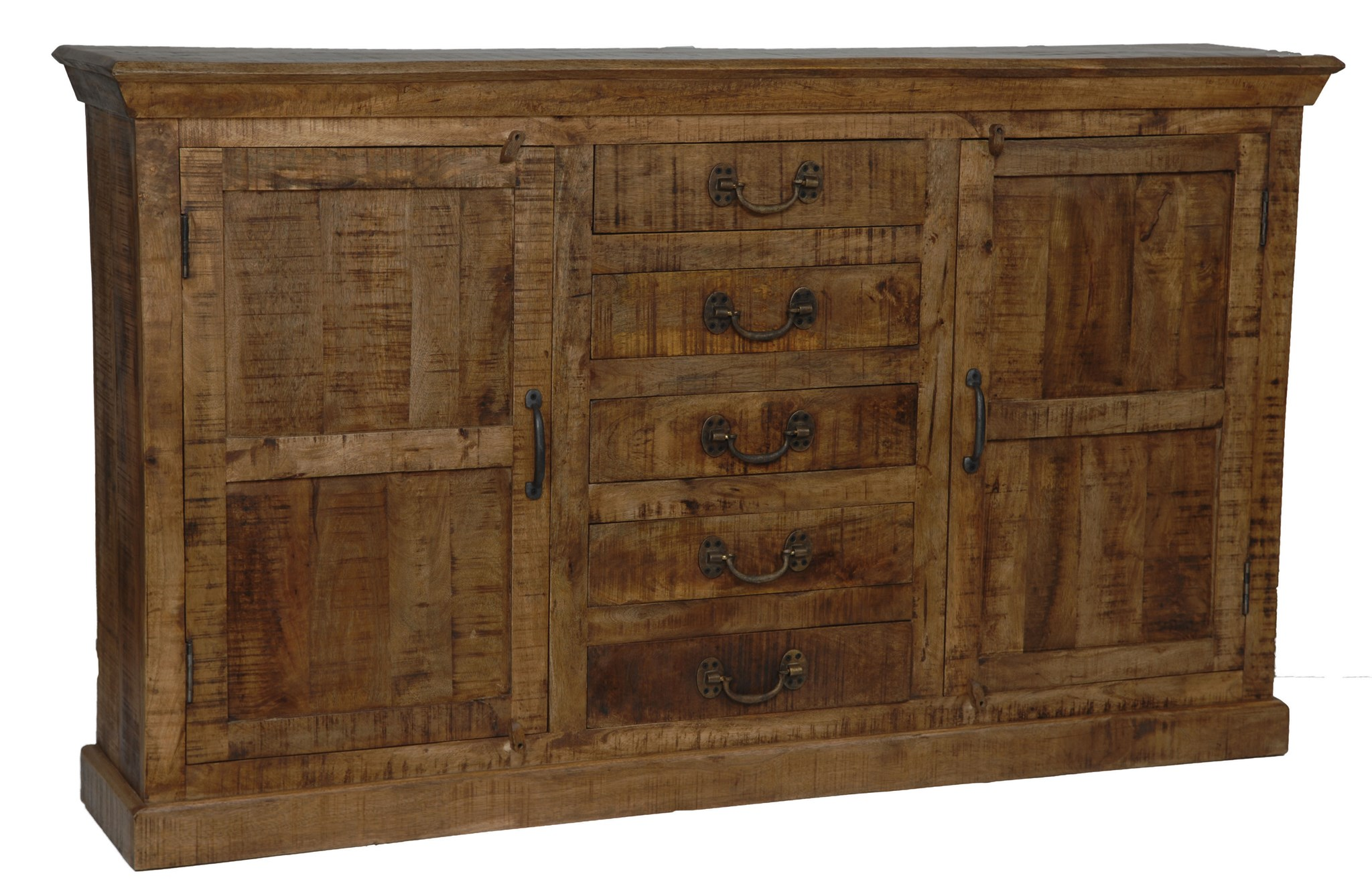 Bengal Manor Mango Wood 5 Drawer 2 Door Sideboard by Crestview Collection