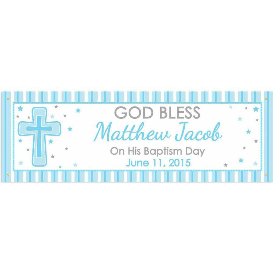 Personalized God Bless Banner, Boy