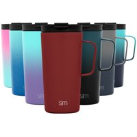 Simple Modern 18oz Scout Coffee Mug Tumbler - Travel Cup for Men & Women Vacuum Insulated Camping Tea Flask with Lid 18/8 Stainless Steel Hydro -Cherry