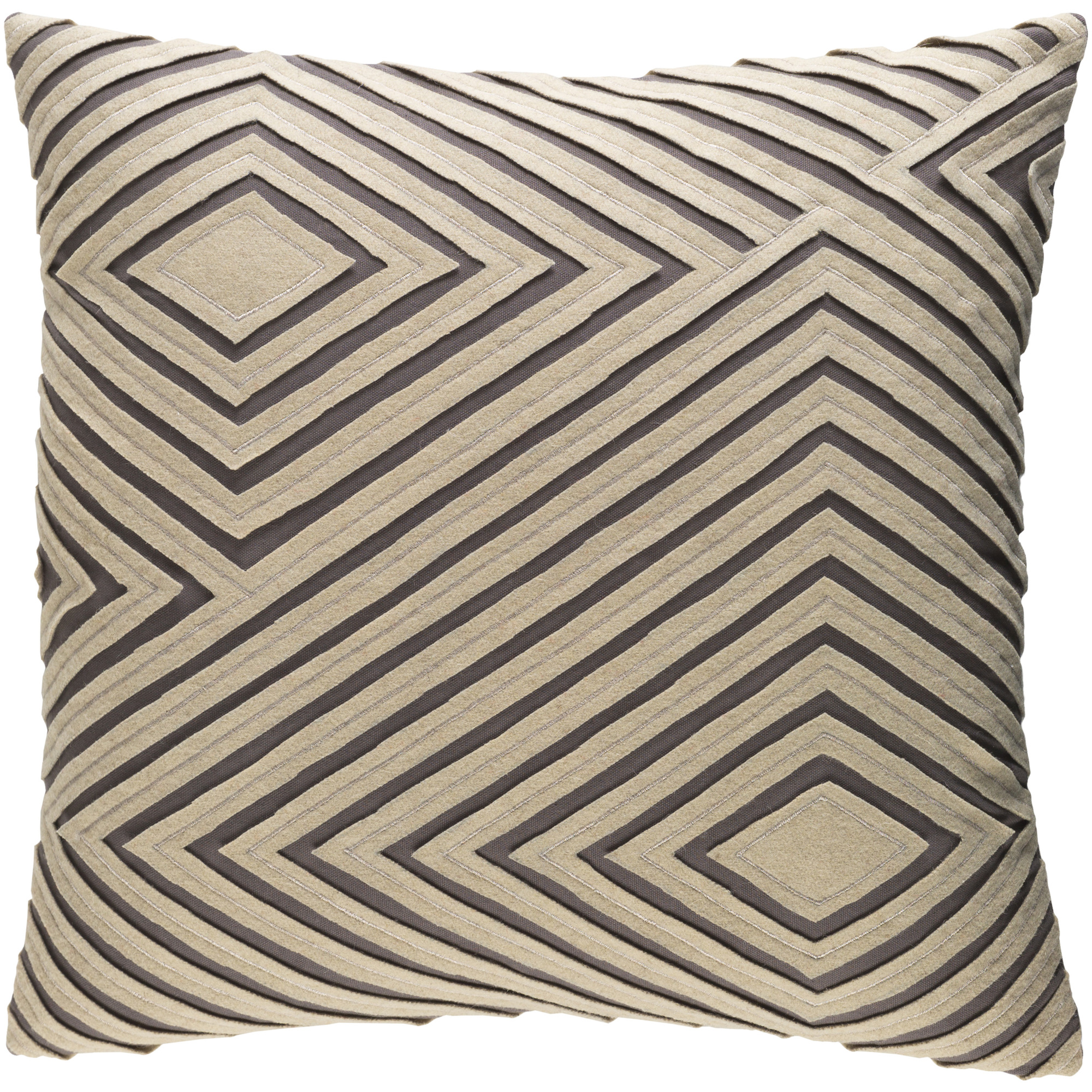 "Art of Knot Bourlet 18"" x 18"" Pillow Cover"