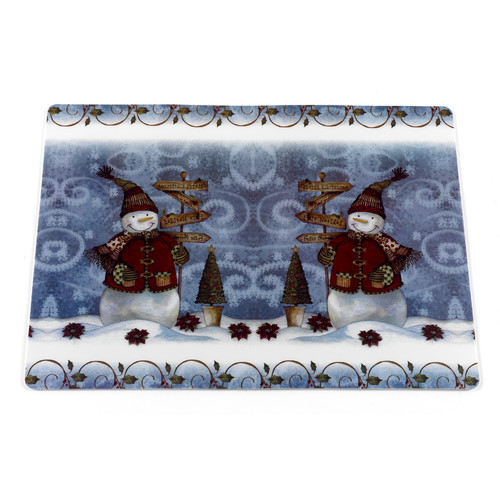Ben and Jonah Snow Friends Holiday Placemat (Set of 4) by Carnation Home Fashions