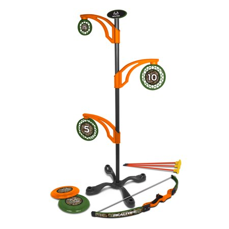 NKOK RealTree Games 2-in-1 Toy Flying Disc & Archery Target Set ()