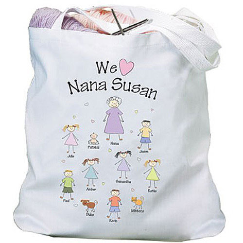 Personalized Heart Character Tote Bag
