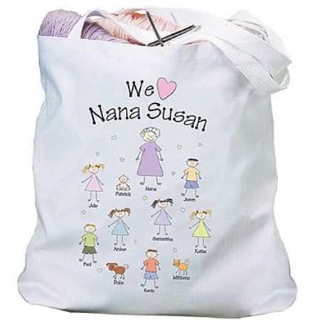 Personalized Heart Character Tote Bag](Custom Tote Bags)