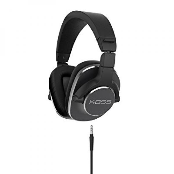 Koss Pro4S Full Size Studio Headphones, Black with Silver Trim by Koss