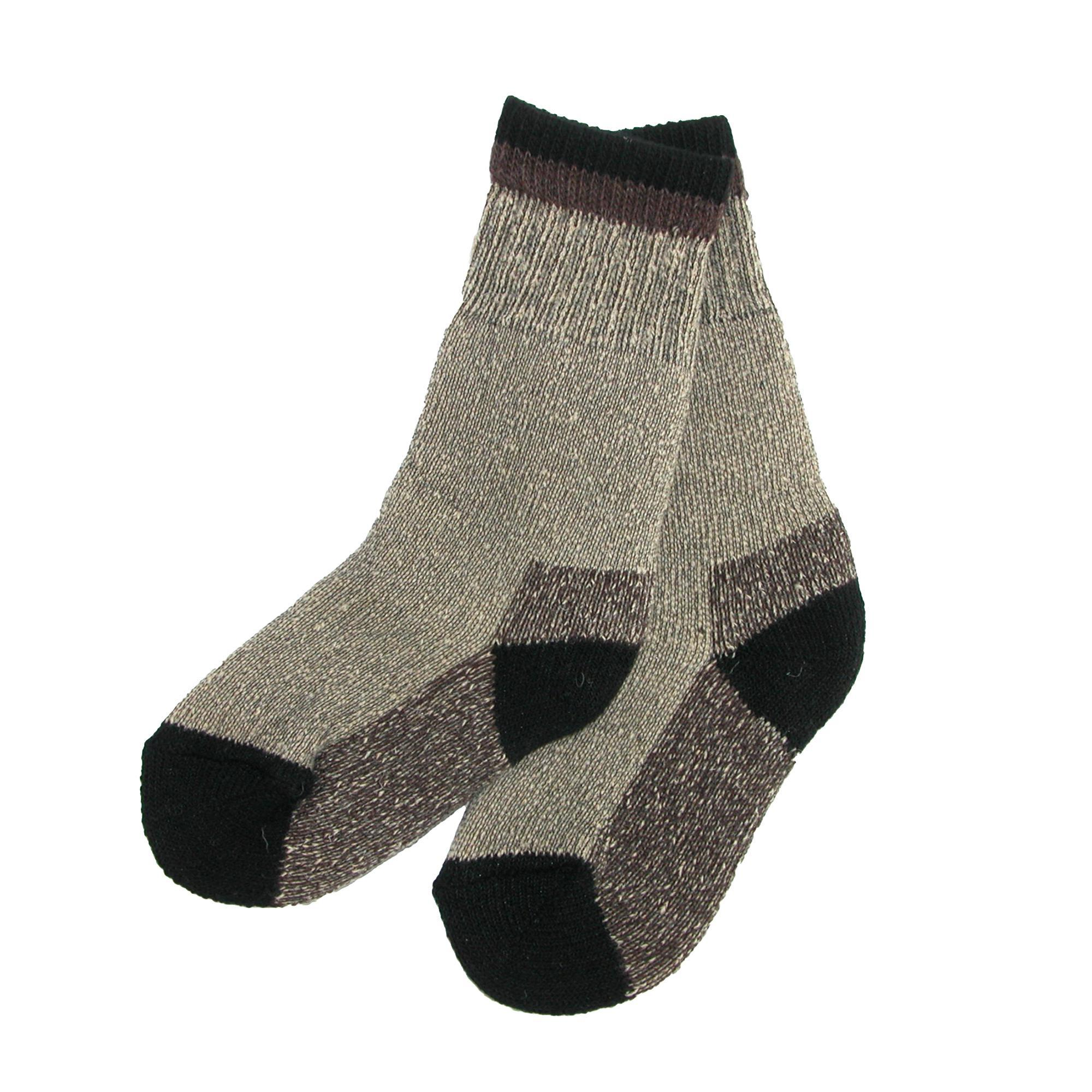 Clear Creek Boy's Wool Hiking Socks (2 Pair Pack) - image 2 de 2