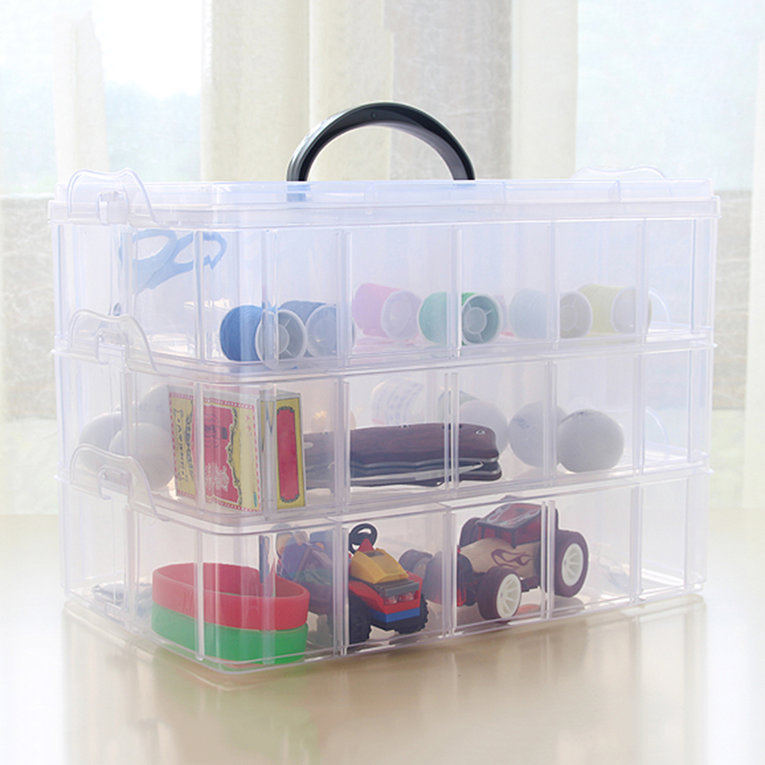 Practical Plastic Storage Box Container Case 30 Organizer Small Items Storage Clear Clear