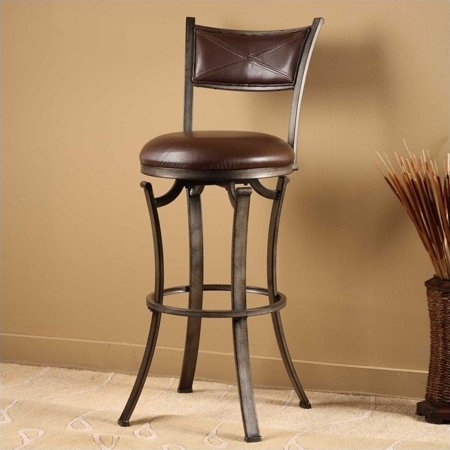 Hillsdale Drummond Swivel Counter Height Stool Pewter
