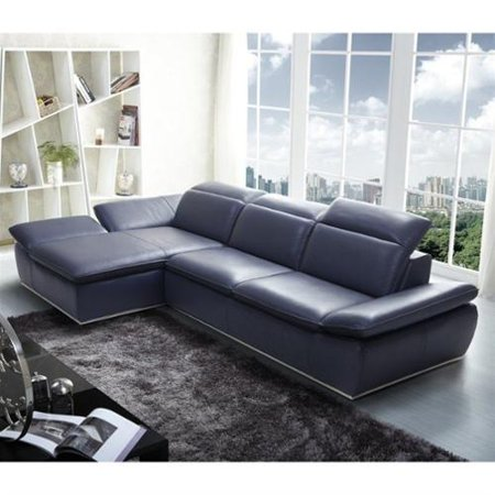 J M Italian Modern Leather Left Sectional picture