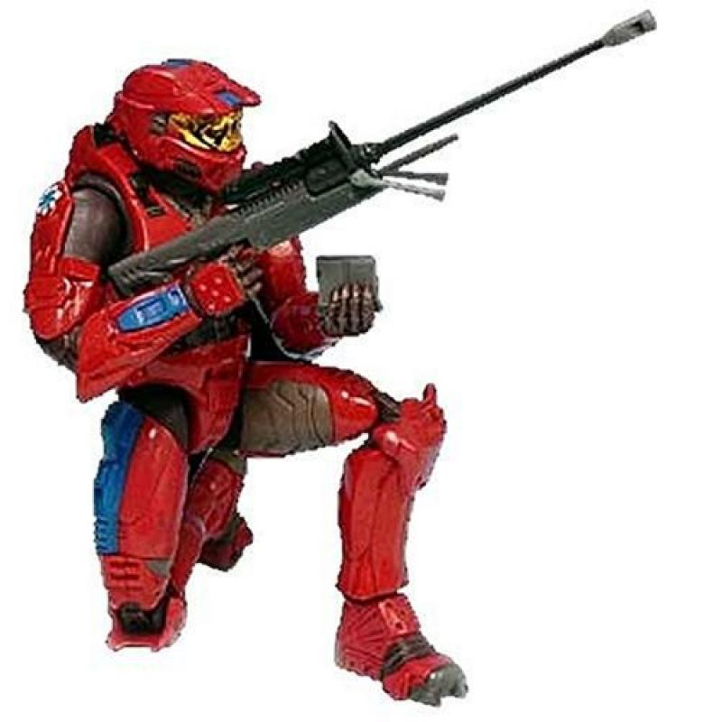 Halo 2 Series 4 Figure: Red Spartan with Blue trim