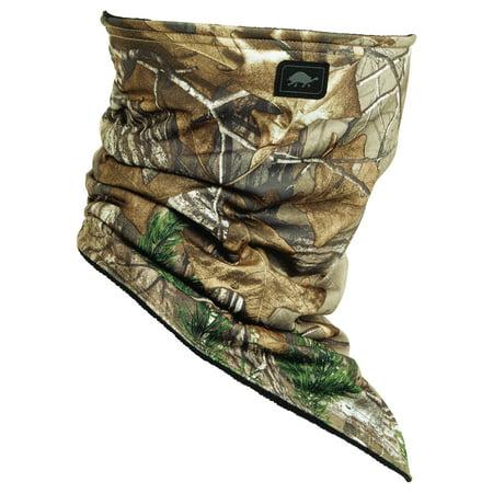Turtle Fur Hunting - Bandana Face Shield, Camo Micro Fleece Lined Neck Warmer RealTree Xtra (Stores That Sell Bandanas)
