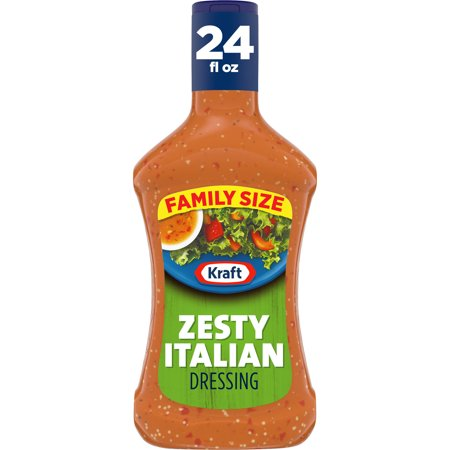 Kraft Zesty Italian Salad Dressing Family Size, 24 fl oz Bottle