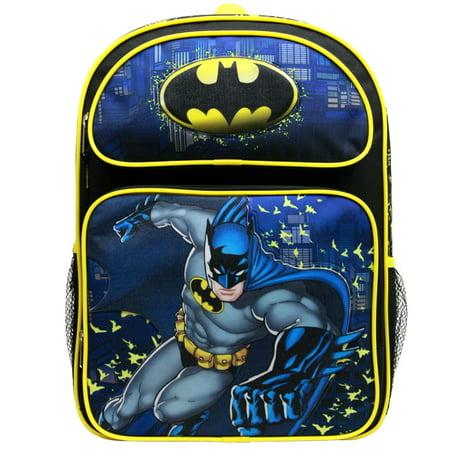 Backpack - Comics - Batman Yellow/Black 16 School Bag BN34939 (Batman School Supplies)