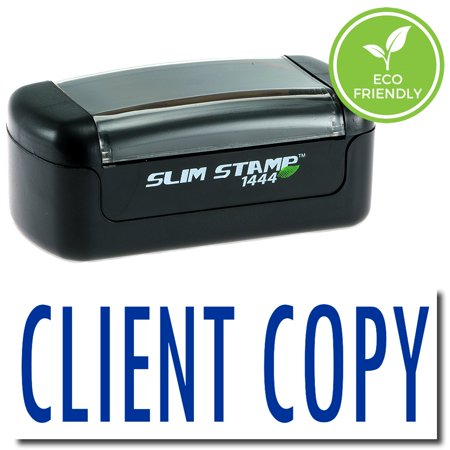 Slim Pre-Inked Client Copy Stamp with Black Ink