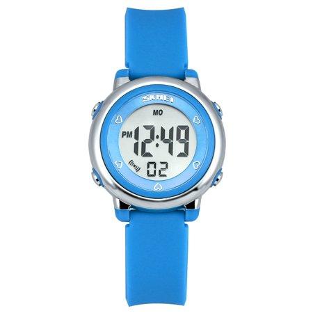 Kids Watches Sports Cool Young Girls Boys Teen Student digital Watch, Time Teacher children -Blue