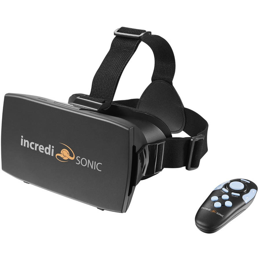 IncrediSonic 3D VR Virtual Reality Headset 3D Glasses & Bluetooth Gaming Controller for 3D Movies and Games (Controller Only Compatible with Android Phones)