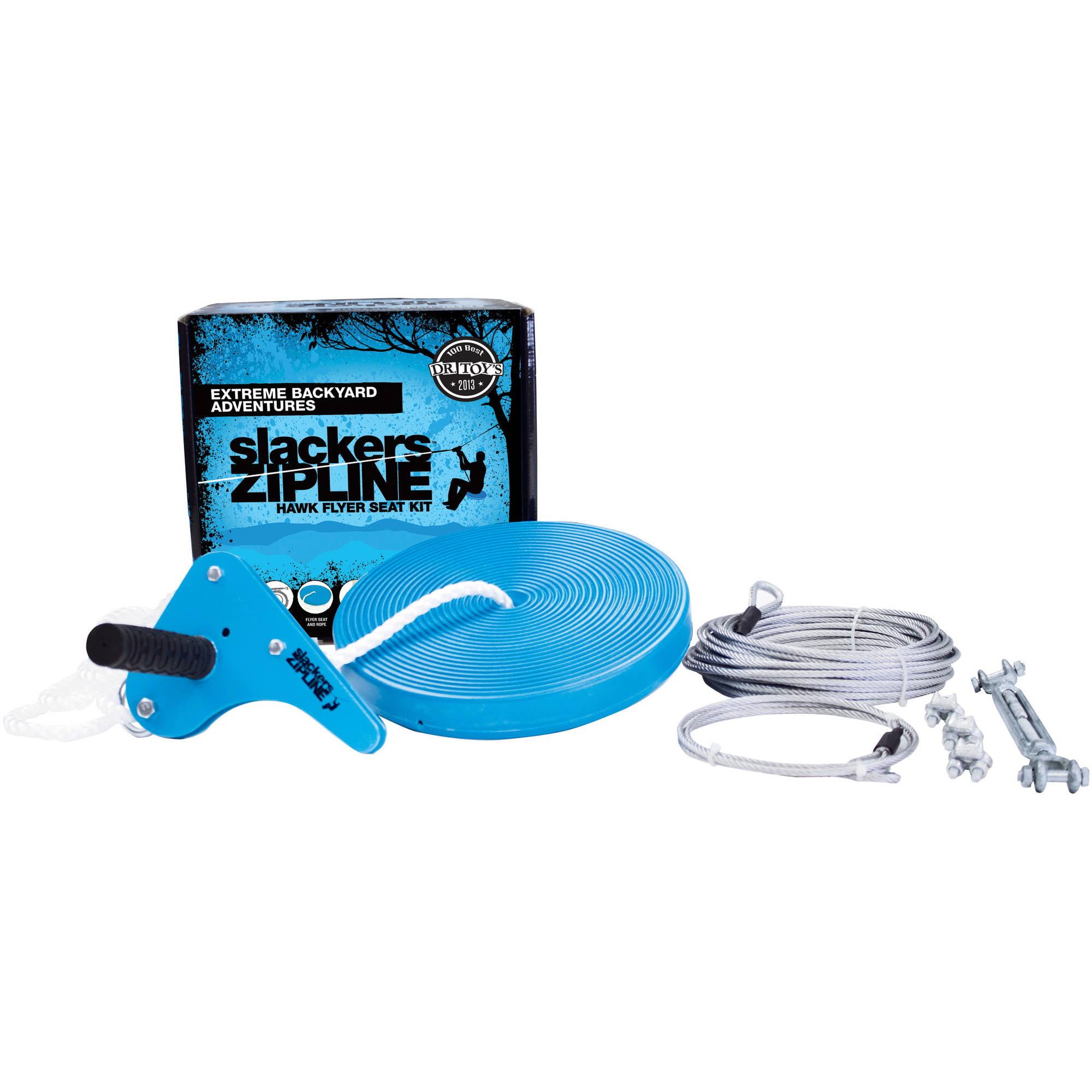 Slackers 70\' Hawk Series Zipline Kit with Seat - Walmart.com