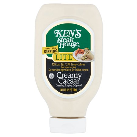 Kens Steak House  Creamy Caesar Dressing Lite  24 Fl Oz