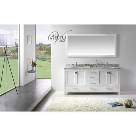 Virtu Usa Gd 50072 Wmro Wh 72  Caroline Avenue Bathroom Vanity In White
