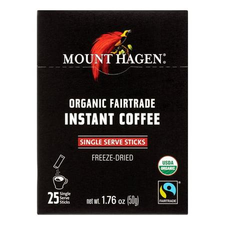 Mount Hagen Organic Instant Coffee, Freeze Dried, 25 Ct