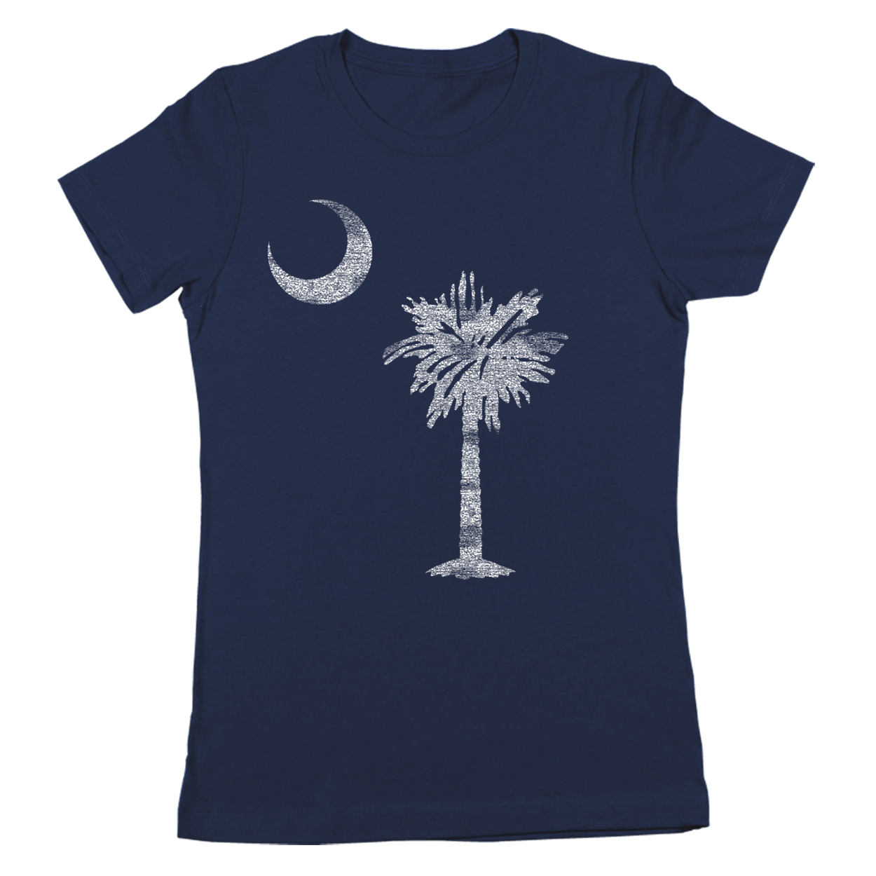 South Carolina Flag Small Navy Women's Jr Fit T-Shirt