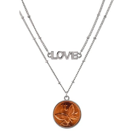 Butterfly Coin Double Strand Love (Multi Strand Coin)