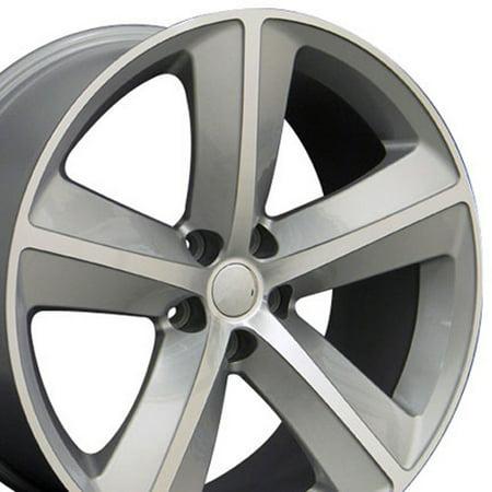 OE Wheels 20 Inch Fits Dodge Challenger Charger SRT8 Magnum Chrysler 300 SRT8 SRT Style DG05 20x9 Rims Silver Machined SET